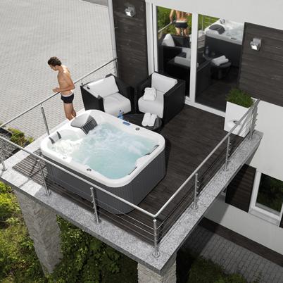 Vasche idromassaggio per interno ed esterno installazione e manutenzione bauen milano for Vasche da bagno esterne